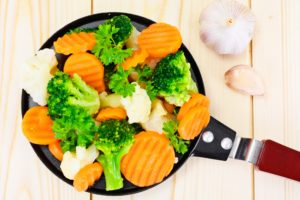 soft steamed veggies