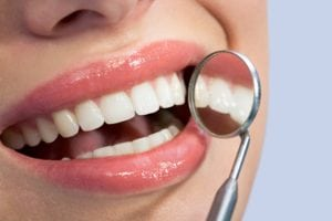 close up image of healthy gums